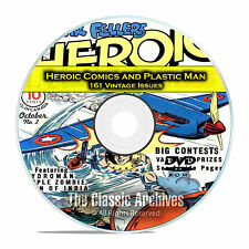 Heroic Comics and Plastic Man, 161 Vintage Issues, Golden Age Comics PDF DVD C82