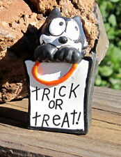 Rare Vintage 1989 Applause Pvc Felix the Cat in Halloween Trick or Treat Bag