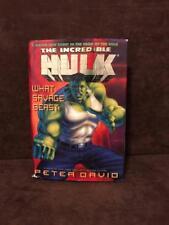 Peter David The Incredible Hulk What Savage Beast George Perez HB DJ Book