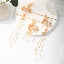 3 pcs/set Retro Flower Tassel Hair Sticks Comb for Hanfu Party Wedding Cosplay