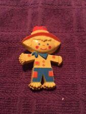 Vintage Avon Scarecrow Pin Peter Patches Fragrance Inside Halloween *1975 Euc