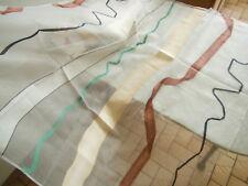 C3 coupon tissu moderne voilage  motif effet ruban 98 cm sur 1 mètre 10