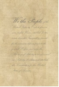 We The People Preamble Cross Stitch Fabric 28 Even 18 X 26  All Counts Avail