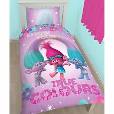 TROLLS luminescenza singolo Copripiumino e federa Set Pannello Design 2 In 1 Reversibile