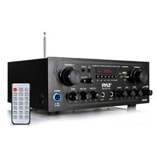 Pyle PTA24BT Compact 250W 2-Ch. Stereo Receiver System with Bluetooth FM Radio M