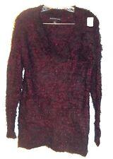 Rock & Republic Sweater Red Metallic & Black Hairy Sweater NWT$60 Size M
