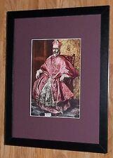 """Incorniciato 12"""" x16"""", El Greco, DON Fernando, i comandanti dipinti, BIBBIA DIPINTI"""