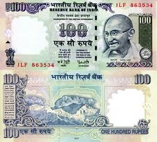 INDIA 100 Rupees Banknote World Paper Money UNC Currency Pick p98i 2007 Gandhi