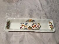 Aynsley Fine Bone China Rectangle Trinket Mint But Dish Cottage Garden English