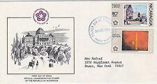 NICARAGUA 1976 FDC - AMERICAN BICENTENNIAL - PHILADELPHIA - US CAPITOL - DC