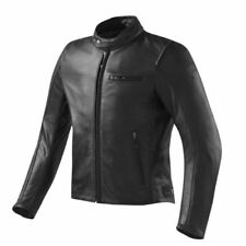 Blousons noirs en cuir de vache à dos pour motocyclette