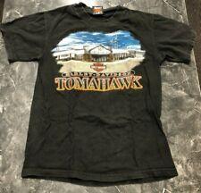 Vintage T Shirt - Harley Davidson Tomahawk S Black Motorcycle Wisconsin USA