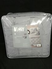 "VCNY Home 4-Piece FULL 76"" X 86"" Soft Comforter Set, Grey"