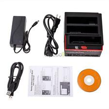 "2.5/3.5""inch SATA IDE HDD Hard Drive Disk Docking Station Clone USB 3.0 HUB top"