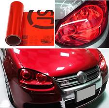 Red 30*100 cm Car Headlight Sticker Tint Film Taillight Vinyl Fog Light Wrap