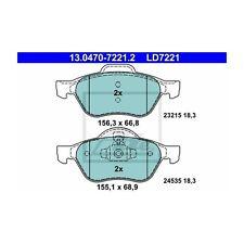ATE 13.0470-7221.2 Bremsbelagsatz, Scheibenbremse ATE Ceramic   für Renault