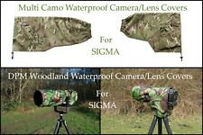 For Sigma Range of Waterproof Multi Camo or DPM Woodland Camera Lens Covers