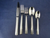 Oneida Stainless Flatware SATIN ETAGE 5pc Place Setting USA Made