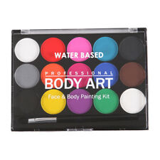 Face Painting Kit,15 Colors Professional Non-toxic Safe Face Body Painting