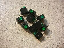 LEDTRONICS T-1 3mm Rt Angle PCB LED Lamp Green/BLACK Housing Qty.10