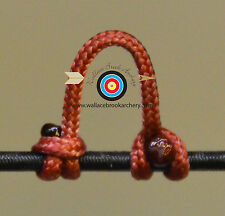 3 Pack Root Beer Archery Release Bow String Nock D Loop Bowstring Bcy #24