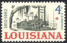 USA 1962 Louisiana Statehood/Boats/Paddle Steamer/Transport/Ships 1v (n29221)