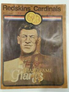 Vince Lombardi 100th Win Program Redskins 10/12/69 no ticket Green Bay Packers