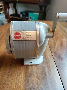 Vintage Apsco GIANT Pencil Sharpener Wall or desk Mount USA
