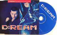 D:REAM CD The Power - For All The Love In The World UK 1 TRACK PROMO w/ artwork