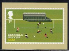 Great Britain Sensible Soccer 1992 Video Games Royal Mail Stamp Card
