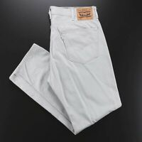 LEVI'S 505 White Tab Grey Denim Regular Straight Jeans Mens W38 L32