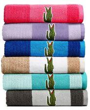 """Lacoste 30"""" x 52"""" Bath Towel Match Cotton Colorblocked Cliff Grey L96359"""