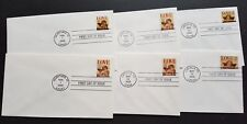 USA 1995 LOVE Stamps FDC x6 covers complete set (official issue covers)
