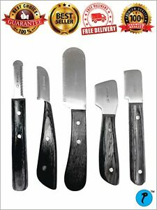 STRIPPING TERRIERS CARDING KNIFE CAT DOG FOX PET GROOMING COMB 5 PCS SINGLE/ SET
