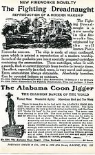 1926 Print Ad Alabama Coon Jigger Mechanical Toy Black Americana & Dreadnaught