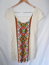 "ARNHEM, LARGE, BNWOT, OPEN LACE UP BACK, BOHO/GYPSY ""AZTEC"" MINI DRESS RARE"