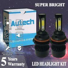 4-side 9007 LED Headlight Kit 2800W 420000LM Hi/Low Beam Bulbs 6000K White Light