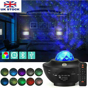 Galaxy Star Cloud Projector Music Night Lights Starry Ocean Wave Lamp Remote UK