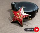 ORIGINAL Red Star Cap RUSSIAN BADGE WW2 Hat Badge USSR Military SOVIET USSR
