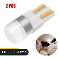 2x Super White T10 3030 1SMD LED High Power Interior Light Bulb W5W 194 168 2825
