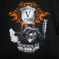 XL Arizona V Twin Black T-Shirt