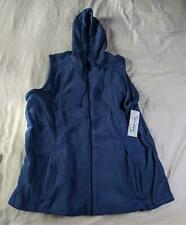 Ua Butter-Soft Unisex Stretch Fleece Hooded Scrub Vest Cm9 Navy Size Xl Nwt