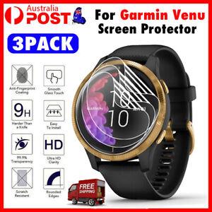 3Pcs Screen Protector Clear TPU Soft Compatible For Garmin Venu / Active NEW
