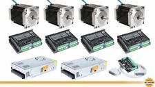 DE Free! 4Axis Nema23 23HS8430 3A 270oz-in Schrittmotor DM542 CNC Kit