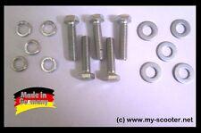 5x Schrauben Set M7 x 30     mit Federring (Sprengring) und Unterlegscheibe