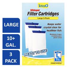 Tetra Whisper Replacement Carbon Aquarium Filter Cartridges, Large, 3-Count