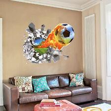 Fußball Wandtattoo Wandsticker Wandaufkleber Kinderzimmer Bundesliga 3D #13-1