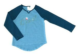 """Small (5/6) Gymboree Girl's """"Ciao"""" T-shirt Tee Long Sleeve Teal NWT"""
