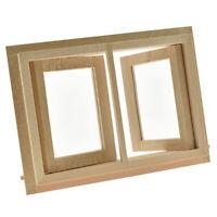 Doll House  1/12 Scale Miniature Window Furniture 2 Pane Casement DIY Home Decor
