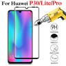Tempered Glass Full Screen Protector 3D Curved Fit For HUAWEI P30/P30  Lite-LY